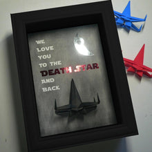 Personalized Father's Day Gift from The Kids - 5X7 3D Shadowbox with Origami X Wing