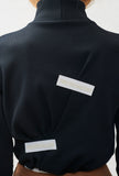 Jersey rib turtleneck with tape