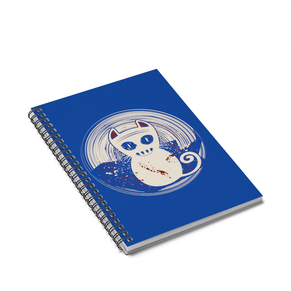 A Unique Spiral Notebook - Ruled Line With This Design of A Zombie Cat