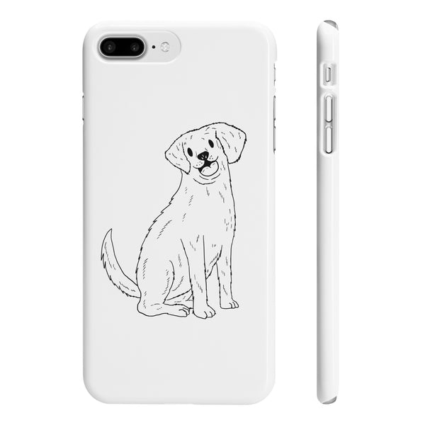 A unique design of a Golden Retriever on Slim iPhone 7 Plus Phone Cases