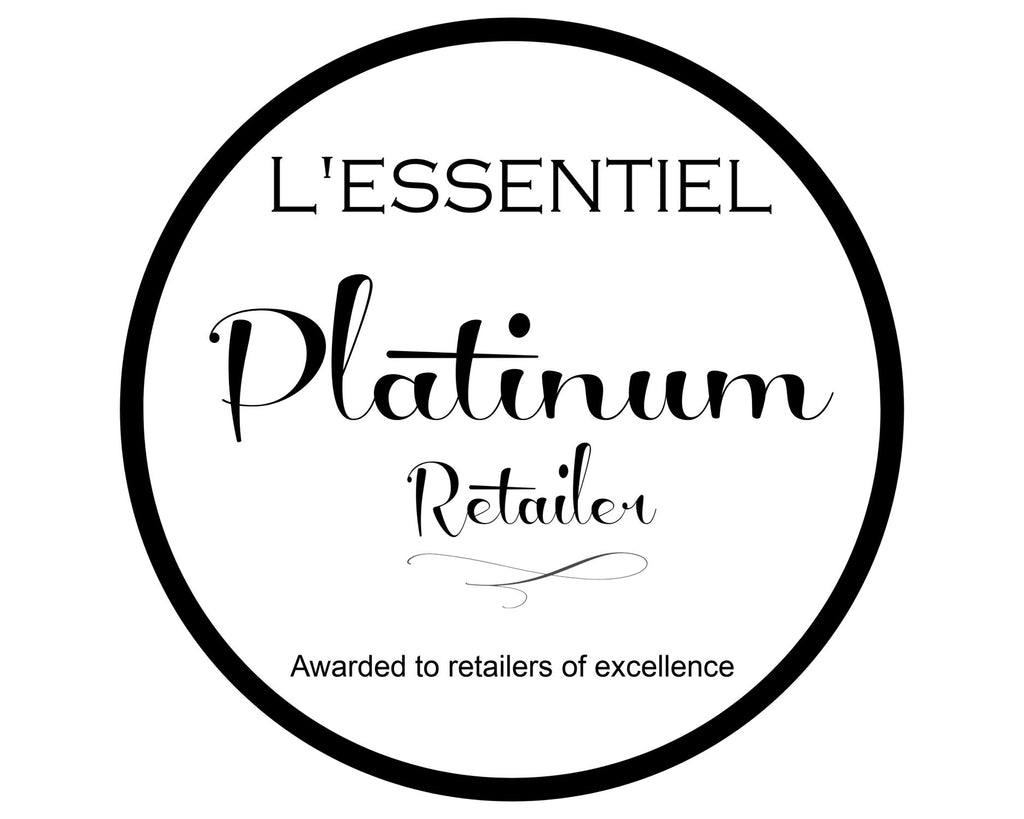 Honoured to be awarded a L'essentiel Platinum Retailer