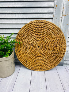Wicker Cane Round Trivet Placemat Centrepiece Tableware