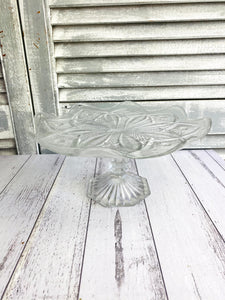Vintage Glass Cake Stand