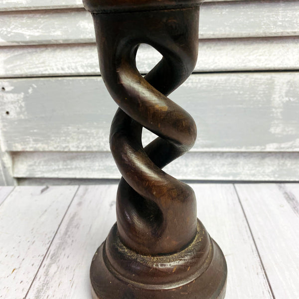 Wooden Twisted Candlestick stand