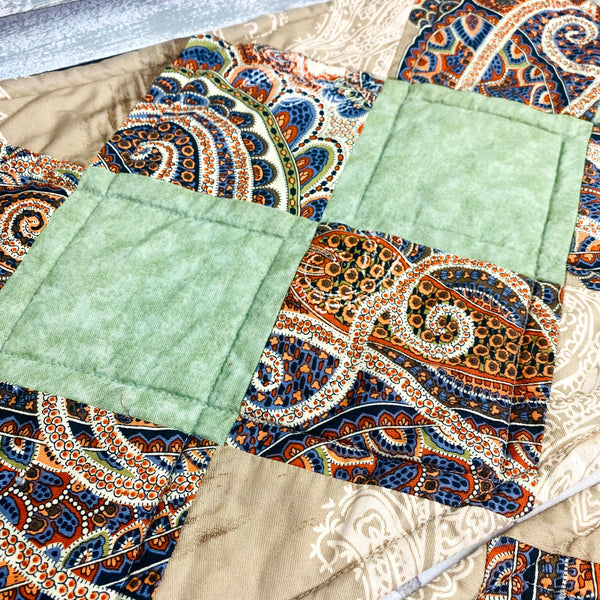 Set of 4 Vintage Patchwork Cloth Place Table Mats