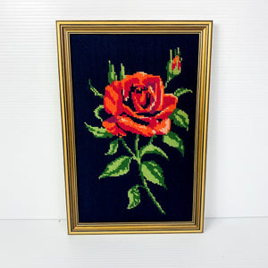 Vintage Rose Floral Tapestry Wall Hanging Picture