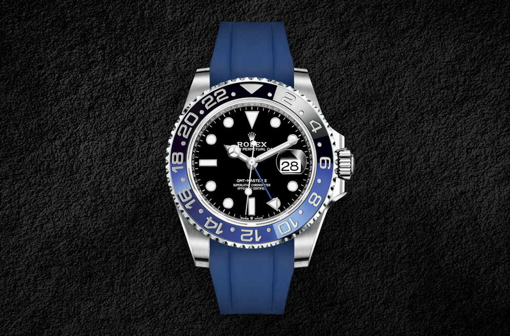 GMT Master II Blue Rubber Strap