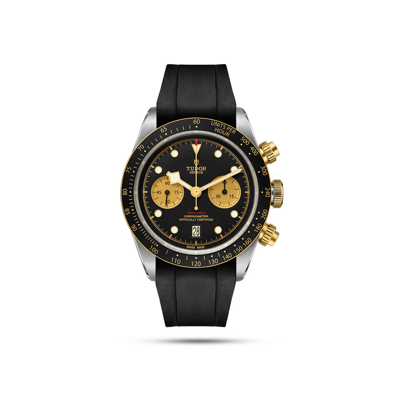 Integrated Rubber Strap For Heritage Chrono - Black