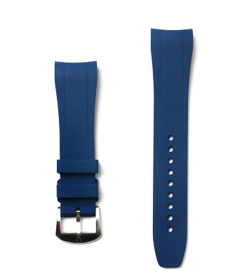 Fitted Rubber Strap For Yacht Master - Blue
