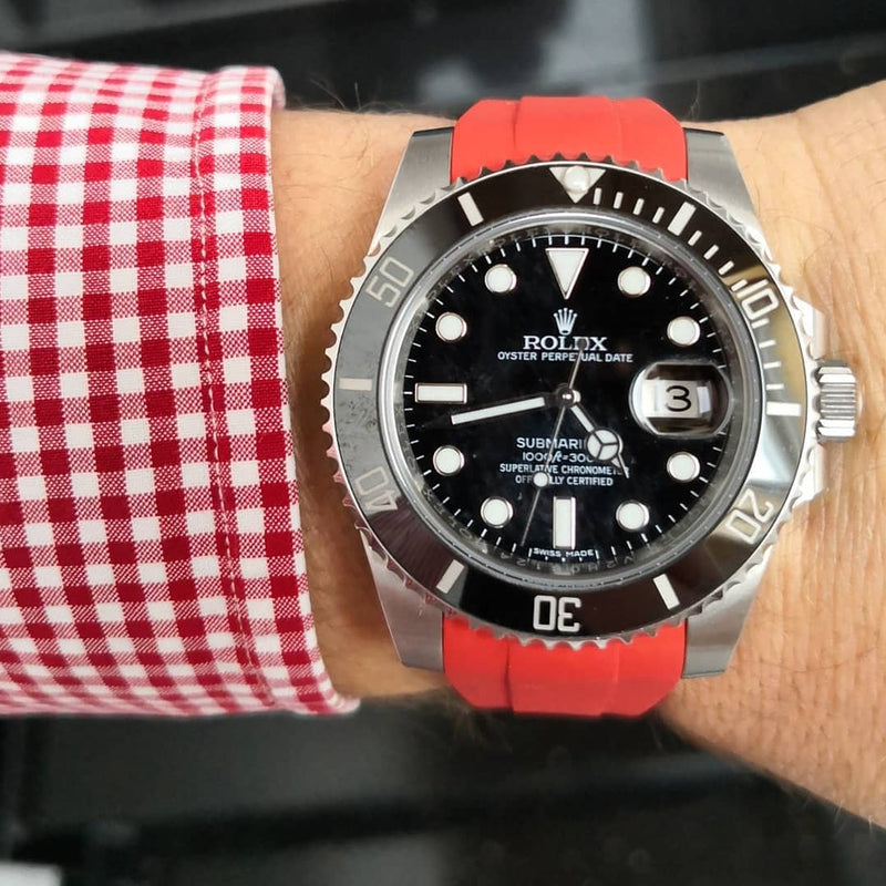 Rolex Red Rubber Strap