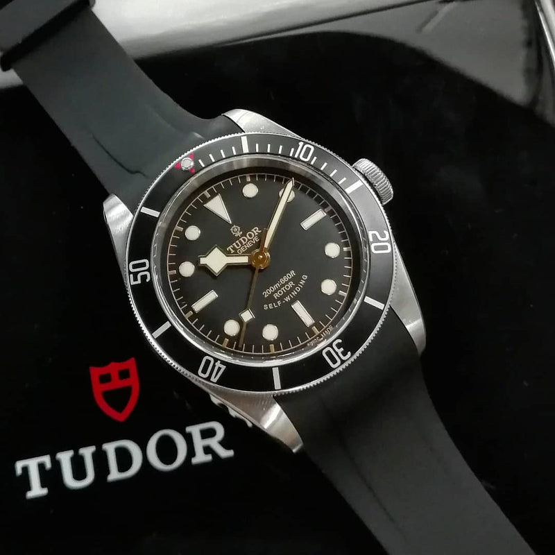 Tudor Black Bay Rubber Strap - Black