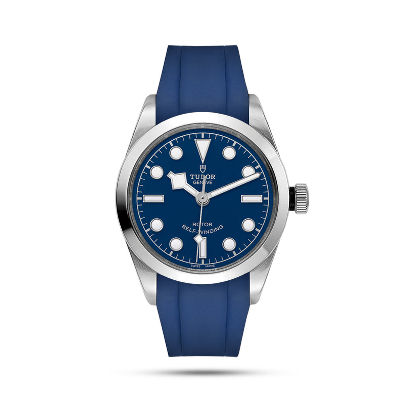 Integrated Rubber Strap For Tudor Black Bay 36 - Blue