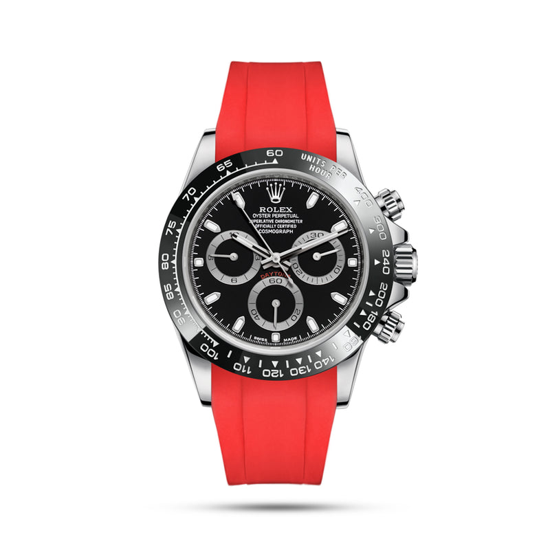 Integrated Rubber Strap For Daytona - Red
