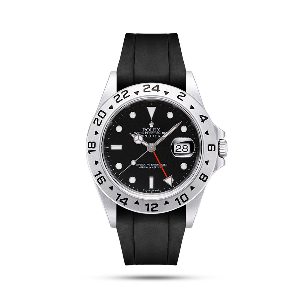 Integrated Rubber Strap For Explorer II - Black