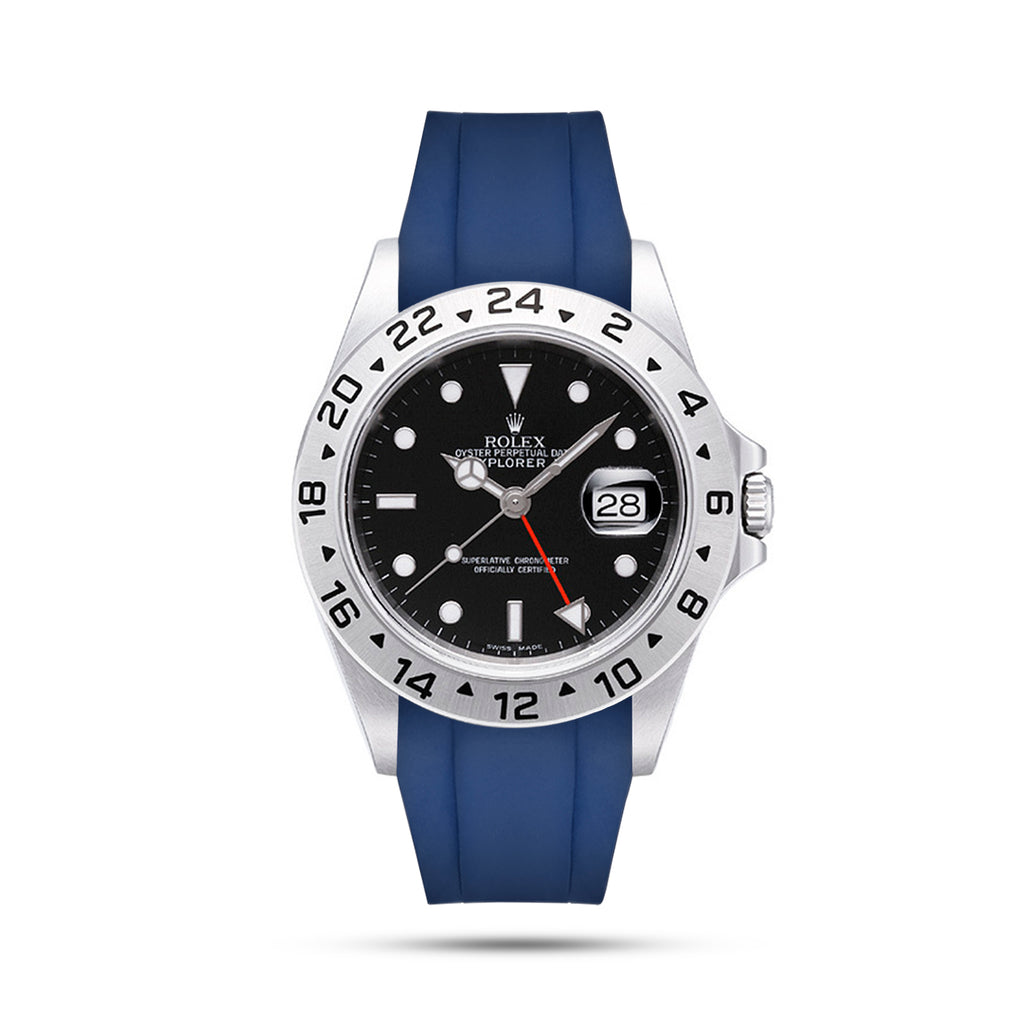 Blue Rubber Strap for Explorer II