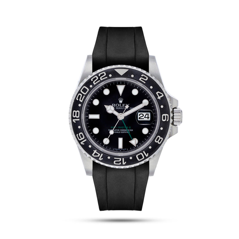 Integrated  Rubber Strap For GMT Master II - Black