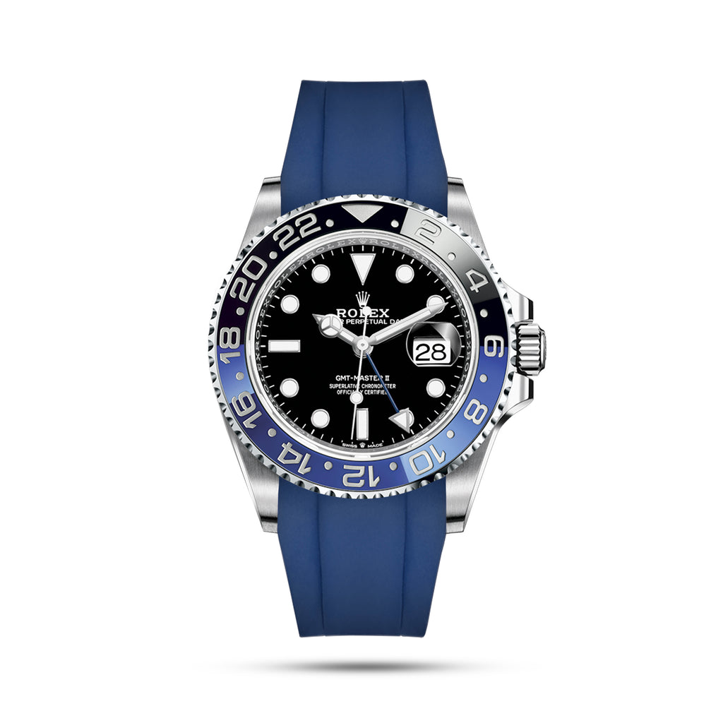 Blue Rubber Strap for GMT Master II
