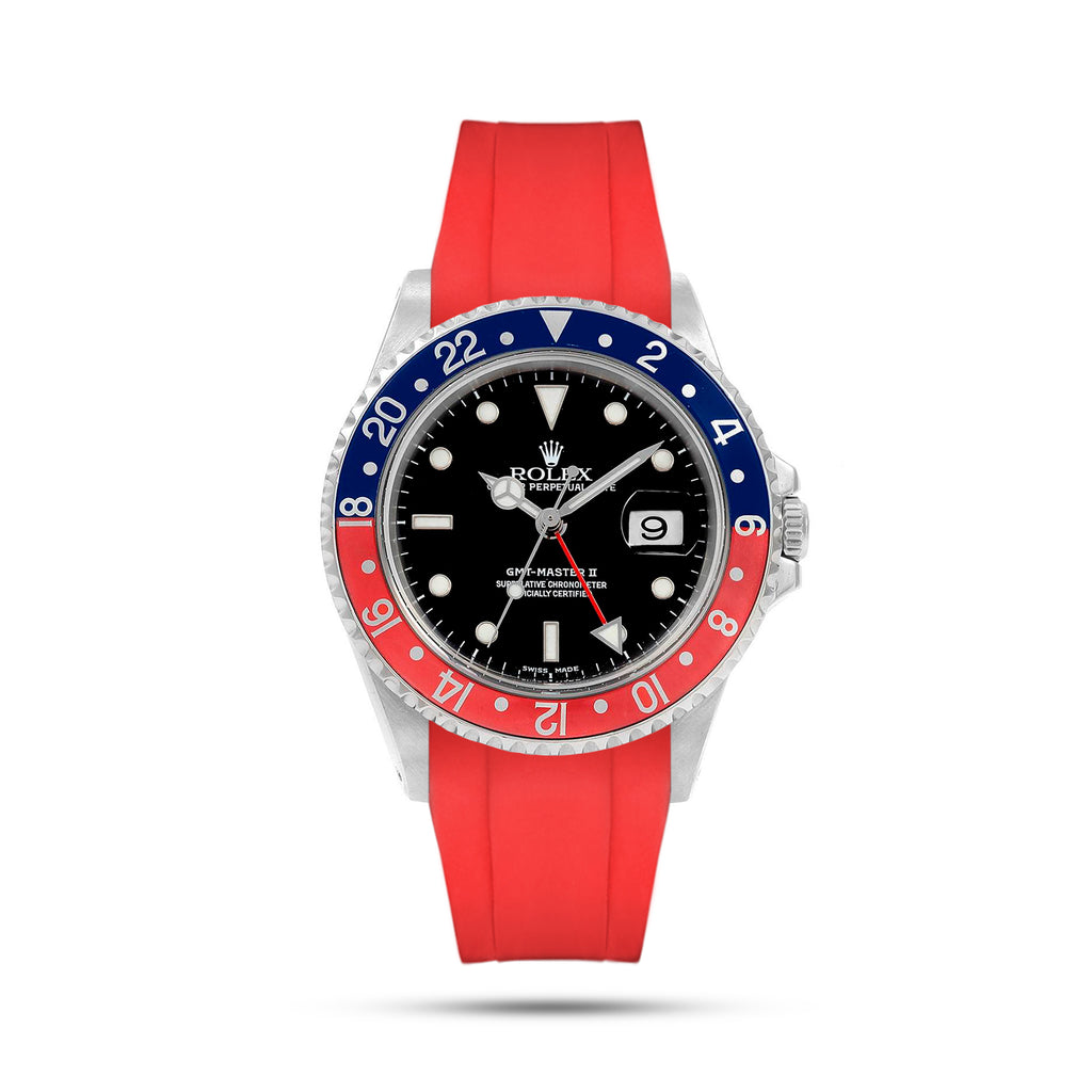Red Rubber Strap For GMT Master II