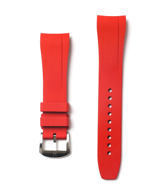 Fitted Rubber Strap For Submariner - Red