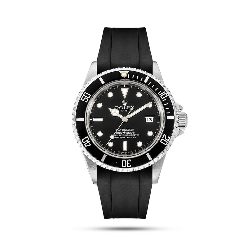 Black Rubber Strap for Sea Dweller
