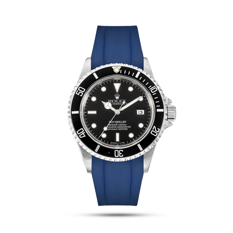 Blue Rubber Strap for Sea Dweller
