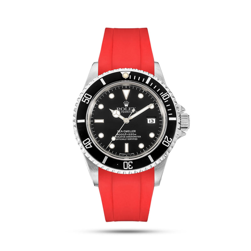 Red Rubber Strap for Sea Dweller