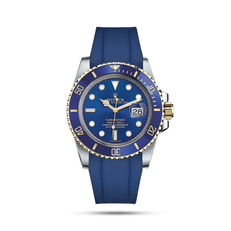 Blue Rubber Strap for Submariner