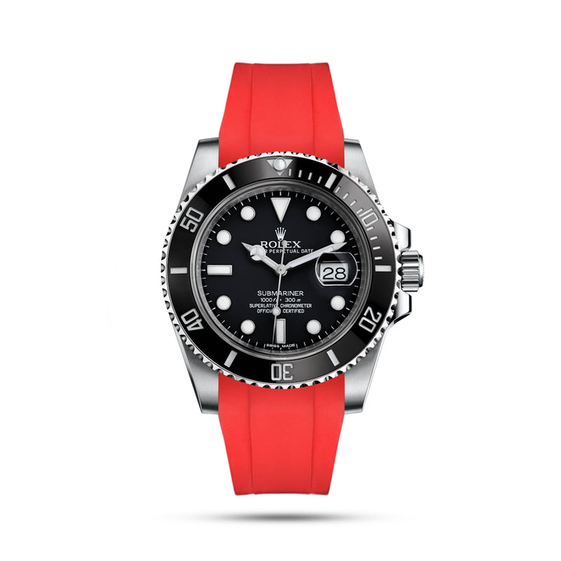 Submariner Red Rubber Strap