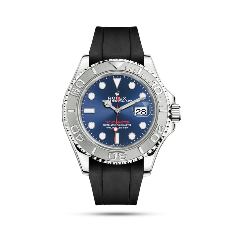 Black Rubber Strap for Yacht Master