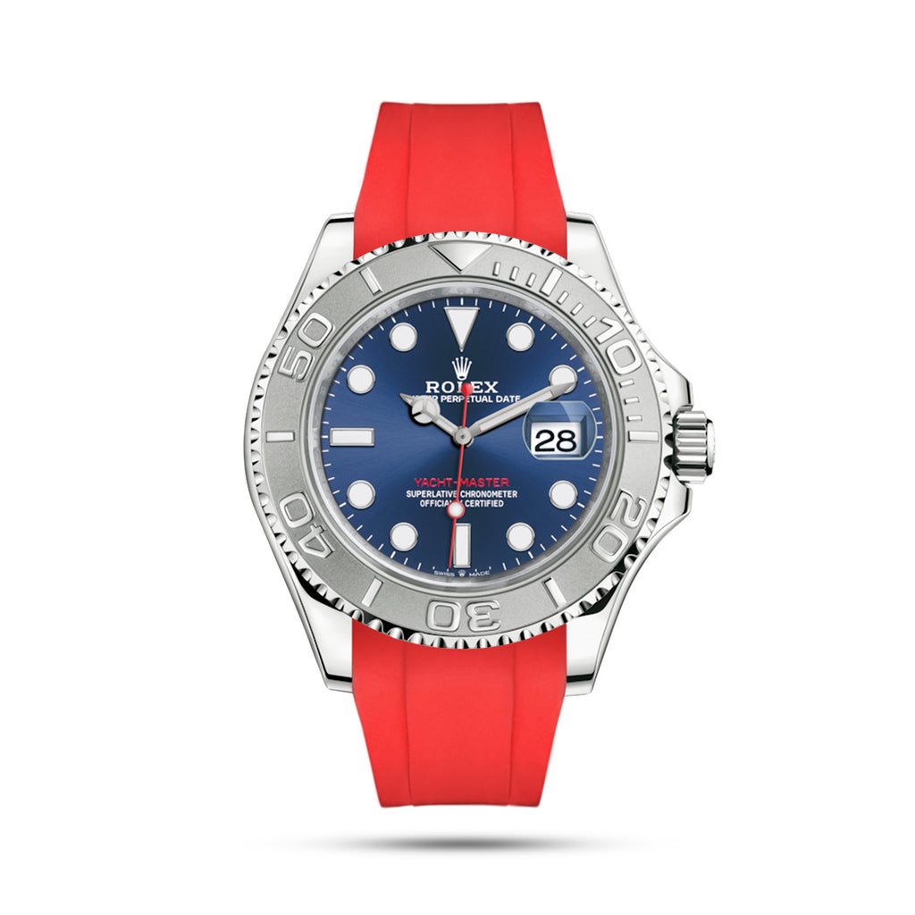 Red Rubber Strap for Yacht Master