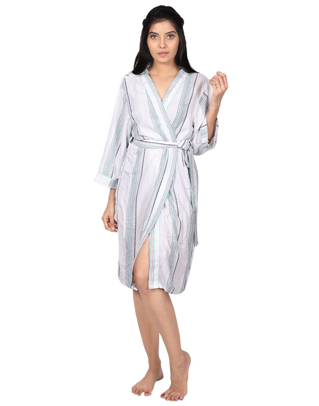 Morrocon Striped Robe