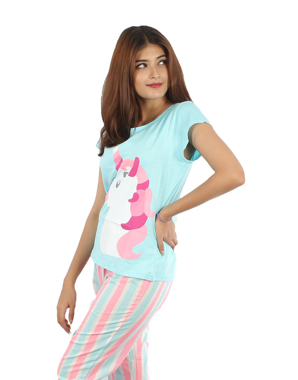 Unicorn Neon Stripe Pj set