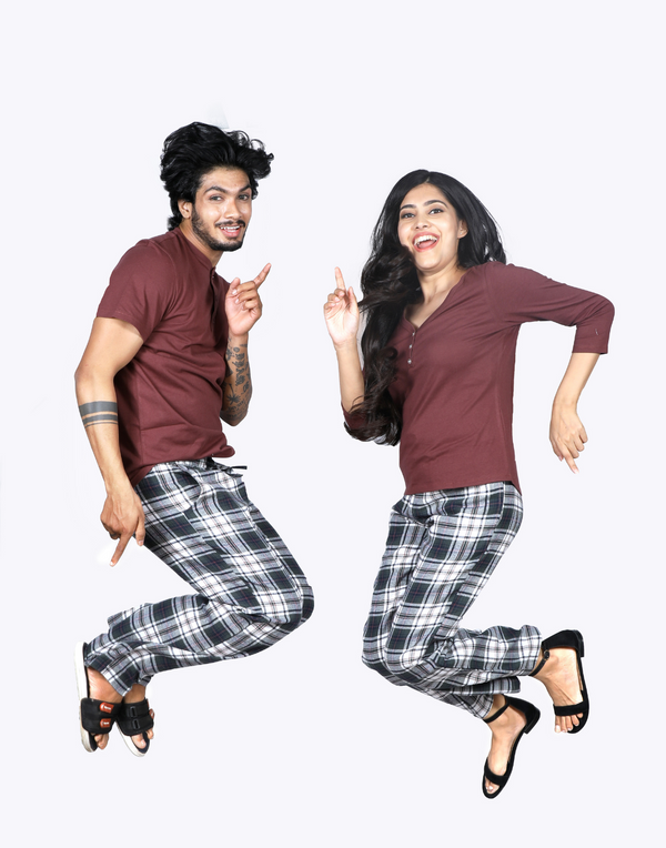 MAROON COUPLE PJ