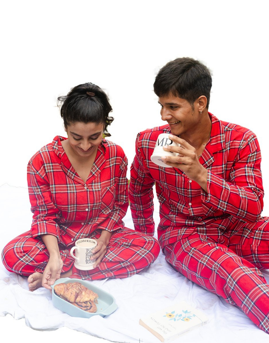 RED WINTER COUPLE PJ