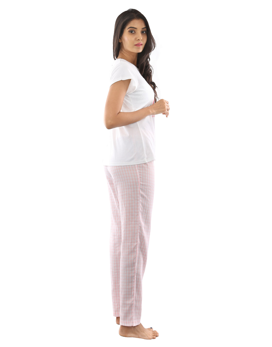 Baby Pink Gingham Check Pj set