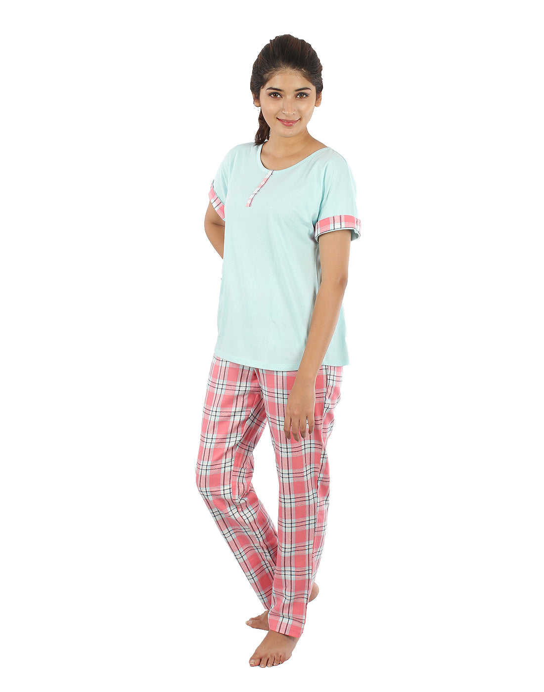 Cuff Fold Checked PJ