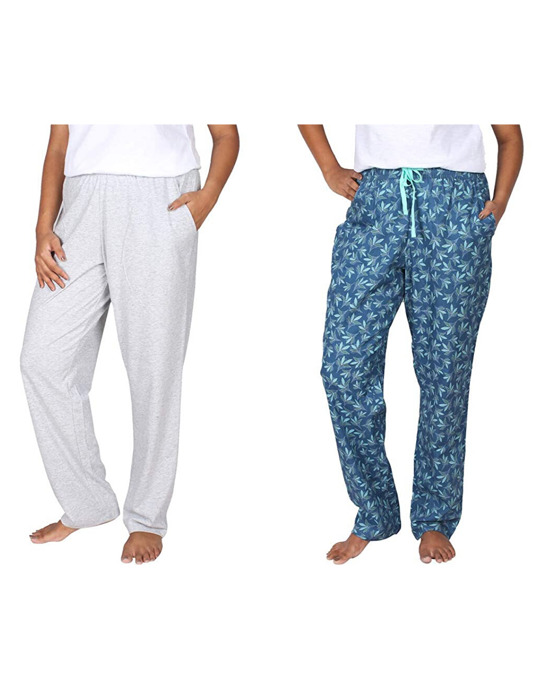 Leaf & Solid Pants Pack of 2