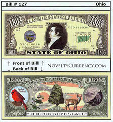 Ohio - The Buckeye State - Commemorative Novelty Bill