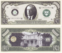 Woodrow Wilson - 28th President Of The United States Bill