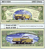 Image of 1957 Chevy Classic Car Novelty Currency Bill