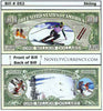 Image of Skiing Novelty Currency Bill