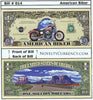 Image of American Biker Novelty Currency Bill