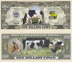 Cow Novelty Currency Bill
