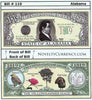 Image of Alabama - The Yellowhammer State - Commemorative Novelty Bill