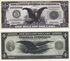 Billion Dollar Novelty Currency Bill