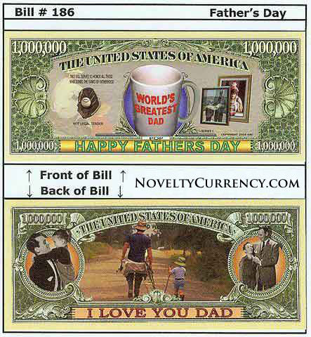 Father's Day Novelty Currency Bill