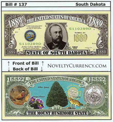 South Dakota - The Mount Rushmore State - Commemorative Bill
