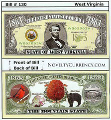 West Virginia - The Mountain State - Commemorative Novelty Bill