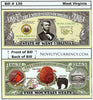 Image of West Virginia - The Mountain State - Commemorative Novelty Bill