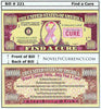 Image of Find A Cure - Breast Cancer - Novelty Currency Bill
